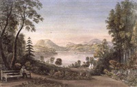 view of the derwent from the botanical gardens, hobarton by emily harrison miller