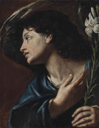 the angel of the annunciation by simon vouet