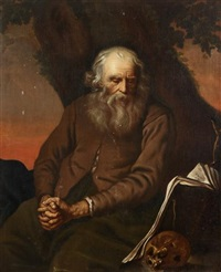 jeremiah lamenting the destruction of jerusalem by salomon koninck