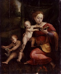 madonna and child with the infant saint john the baptist by girolamo genga