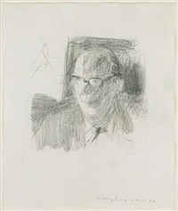 portrait of philip larkin by humphrey ocean