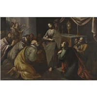 christ giving holy communion by francisco pacheco