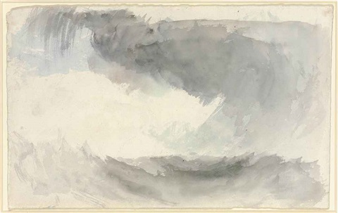 a storm at sea fingals cave study for painting by joseph mallord william turner