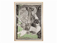 the fossil whale by frank stella