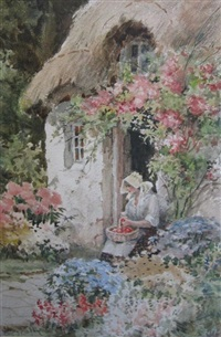at a cottage door by joshua fisher