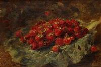 panier de fraises et panier de cerises (pair) by alexis kreyder