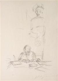 la mère de l'artiste à la lecture by alberto giacometti