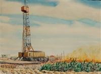 texas oil well by warner hoople