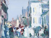 paris plage by john duncan fergusson