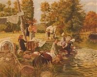 les lavandières by abel boulineau