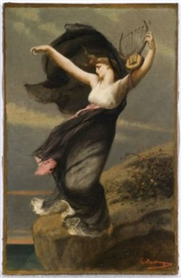 sapho by gustave clarence rodolphe boulanger
