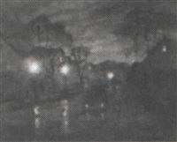 rainy night street scene by rosmond dekalb