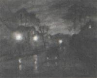 rainy night street scene by rosmond dekalb