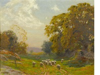 sheep meadow by edward henry potthast