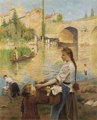les lavandières à pont-sur-yonne by andré chabellard