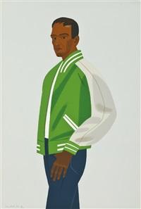 green jacket by alex katz