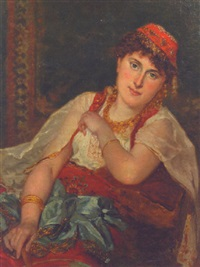 an oriental beauty by pieter willem sebes