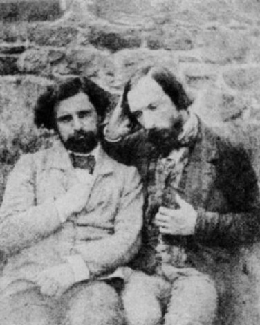 self portrait with francois victor hugo by auguste vacquerie