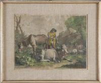 contadino con armenti by francesco londonio