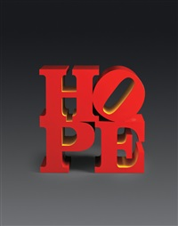 hope (red/yellow) by robert indiana