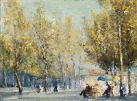 parisian street scene by john banks