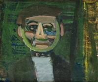 portrait d'homme souriant by artur nacht-samborski