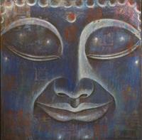 buddha bleu ix by ma tse lin
