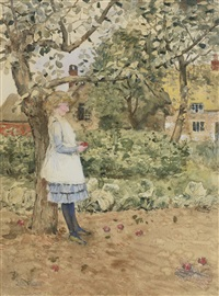 the little philosopher by childe hassam