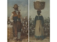 sharecroppers (pair) by william aiken walker