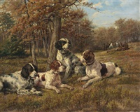 setters at rest by edmund henry osthaus