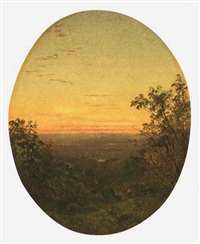 sunset landscape by james augustus suydam