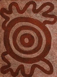 kuniya kutjarra (two sandhill pythons) by anatjari tjakamarra