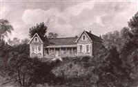 sunny bank, the seat of r.b. miller esq.; and   view from our veranda by emily harrison miller