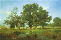 les arbres à barbizon by jean emile renié