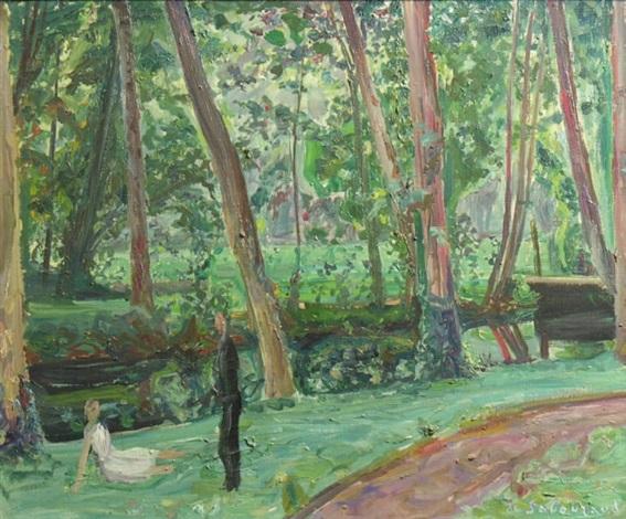 couple dans la forêt by emile sabouraud