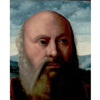 head of a man (fragment) by girolamo da santacroce