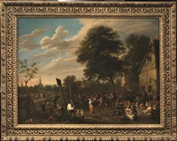 festa di paese by david teniers the younger