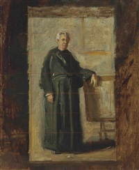 portrait of the very reverend john j. fedigan (study) by thomas eakins