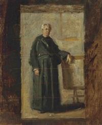 portrait of the very reverend john j. fedigan (study) by thomas eakins