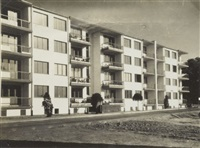dammerstock, vue des chambres principales by walter gropius
