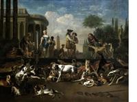 amsterdam dog market by abraham danielsz hondius
