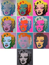 marilyn portfolio by andy warhol