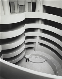 the guggenheim, almost empty by ezra stoller