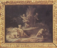 les angelots moissonneurs by rené antoine houasse