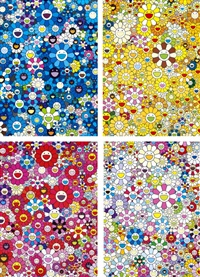an homage to ikb d/ an homage to monogold 1960 c/ an homage to monopink 1960 c/ an homage to yves klein multicolor c (set of 4) by takashi murakami