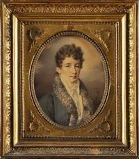 portrait de louis-françois- auguste de rohan-chabot by henri-joseph hesse