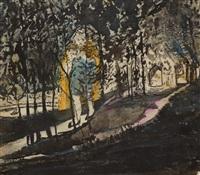 scène de théâtre - joueur de flûte dans les bois - femme à la fenêtre (trois) by max jacob