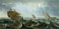 schiffe im sturm by andries van eertvelt