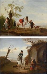 la halte du galant cavalier by philips wouwerman