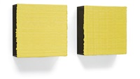lime loop painting no. 1 (in 2 parts) by jason martin